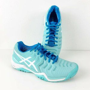 Asics Gel Resolution 7 Light Blue Athletic Shoes